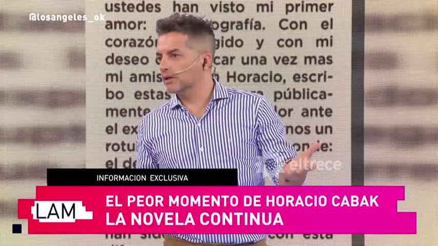 Horacio Cabak salió a aclarar su relación con la azafata, una de sus amantes en la mira
