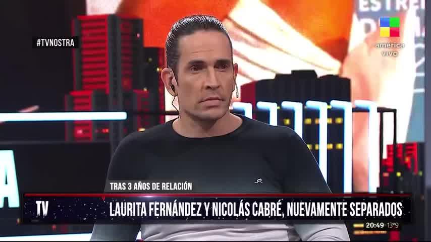 Laurita Fernández y Nicolás Cabré nuevamente separados