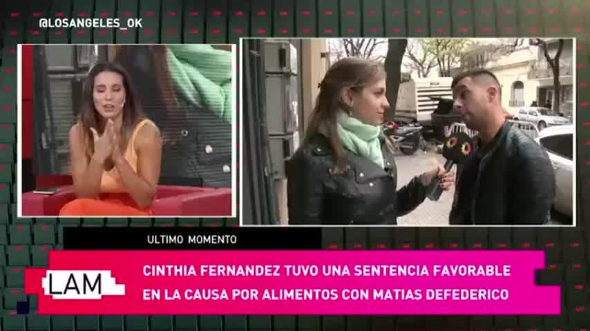 Cinthia Fernández le ganó el juicio a Matías Defederico
