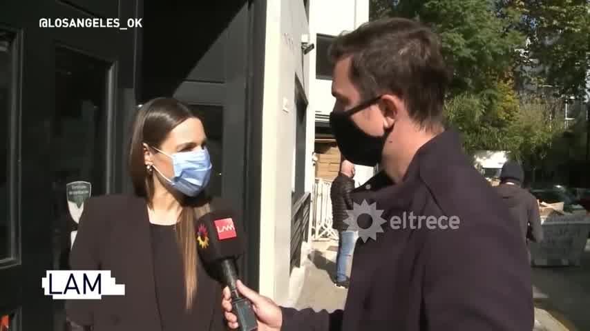 Pampita hablaba de lo que será el reality de su embarazo y cuando le preguntaron por Macedo, se fue