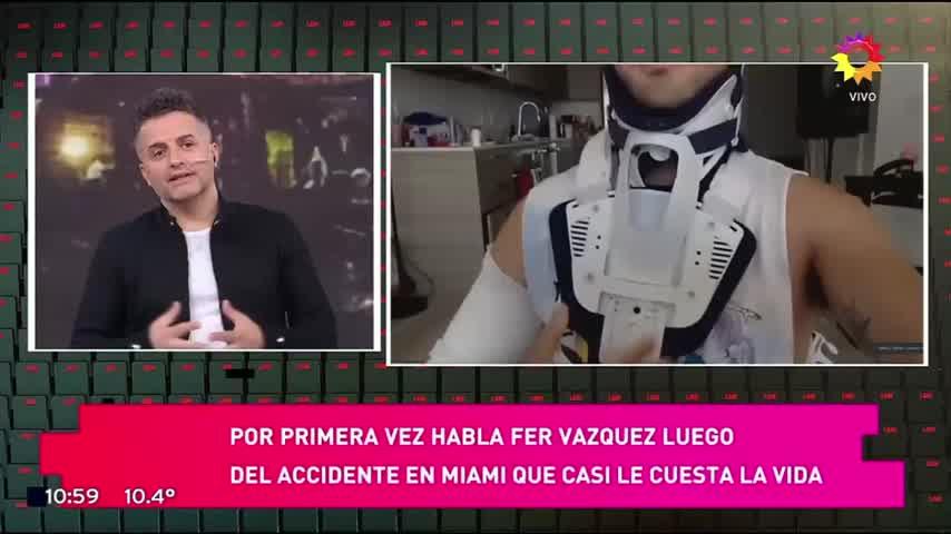 Fer Vazquez, el cantante de Rombai, cuenta como la pasó después de su accidente