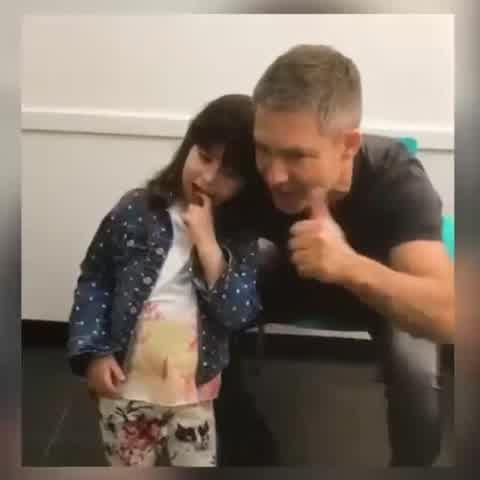 """Adrián Suar celebró los 9 años de su hija Margarita: \""""Sigamos bailando juntos\"""""""