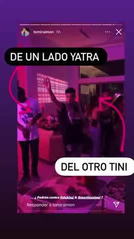 Tini Stoessel y Sebastián Yatra en una fiesta en Miami