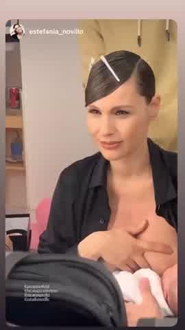 """Pampita y el video más tierno amamantando a Ana previo a salir en \""""La Academia\"""""""