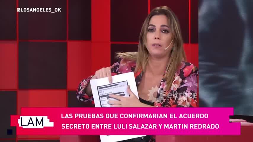 Revelan detalles del pacto económico entre Luciana Salazar y Martín Redrado