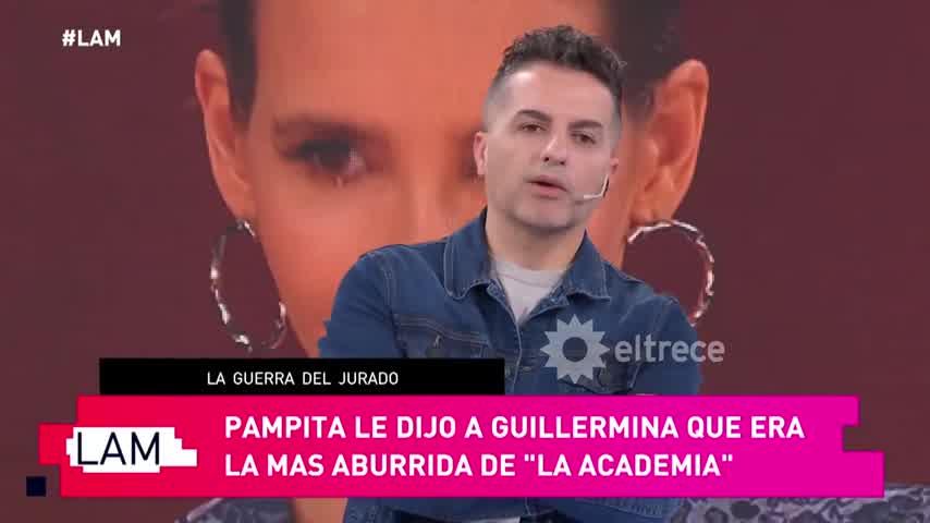 """Pampita y Guille Valdés, enfrentadas: picante teoría sobre su \""""mala onda\"""" en La Academia"""