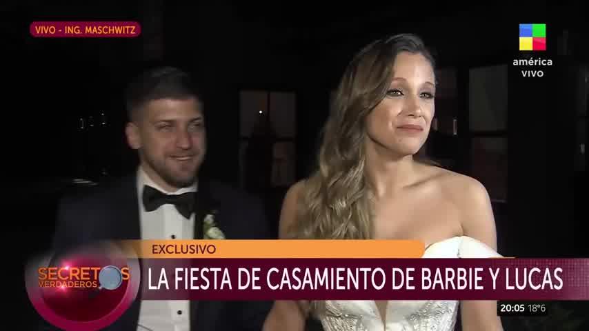 La confesión de Lucas Rodríguez luego de casarse con Barbie Vélez
